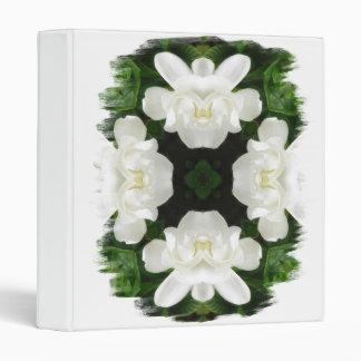 Beautiful Gardenia 5 Kaleidoscope 2 3 Ring Binders