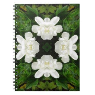 Beautiful Gardenia 5 Kaleidoscope 2 Notebook
