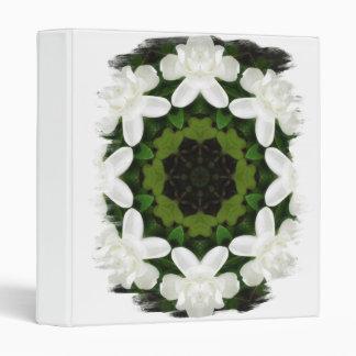 Beautiful Gardenia 5 Kaleidoscope 4 3 Ring Binders