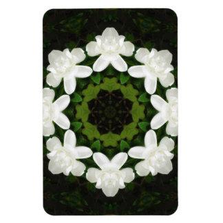 Beautiful Gardenia 5 Kaleidoscope 4 Magnet