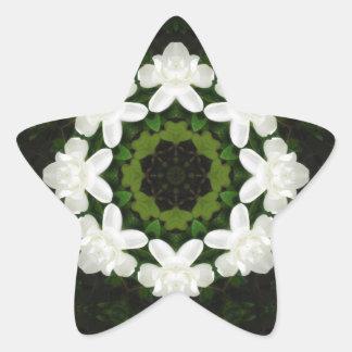 Beautiful Gardenia 5 Kaleidoscope 4 Sticker