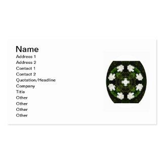 Beautiful Gardenia 5 Kaleidoscope 5 Double-Sided Standard Business Cards (Pack Of 100)