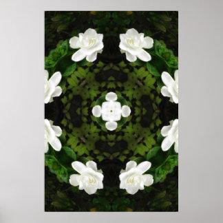 Beautiful Gardenia 5 Kaleidoscope 5 Poster