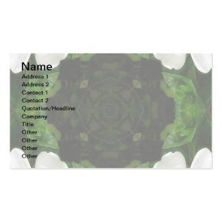 Beautiful Gardenia 5 Kaleidoscope 6 Double-Sided Standard Business Cards (Pack Of 100)
