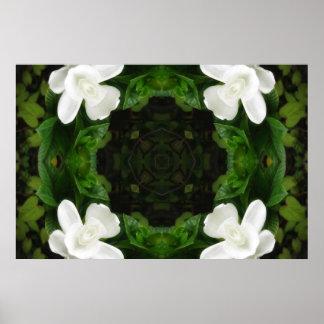Beautiful Gardenia 5 Kaleidoscope 6 Poster