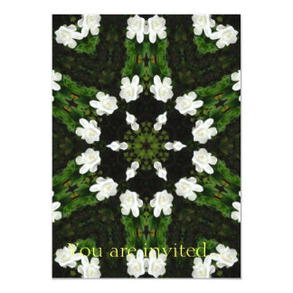 Beautiful Gardenia 5 Kaleidoscope 7 Card
