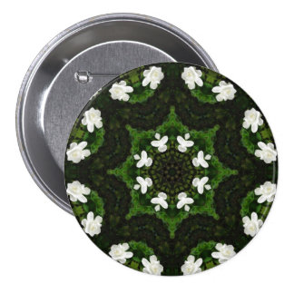 Beautiful Gardenia 5 Kaleidoscope 8 Button