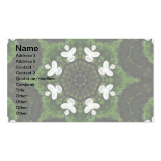 Beautiful Gardenia 5 Kaleidoscope 8 Double-Sided Standard Business Cards (Pack Of 100)