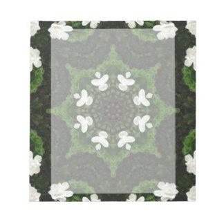 Beautiful Gardenia 5 Kaleidoscope 8 Notepad