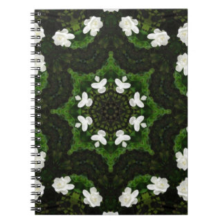 Beautiful Gardenia 5 Kaleidoscope 8 Spiral Notebooks