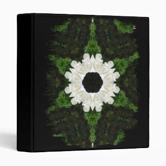 Beautiful Gardenia 5 Kaleidoscope 9 3 Ring Binder