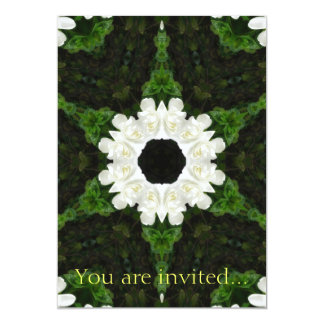 Beautiful Gardenia 5 Kaleidoscope 9 Card