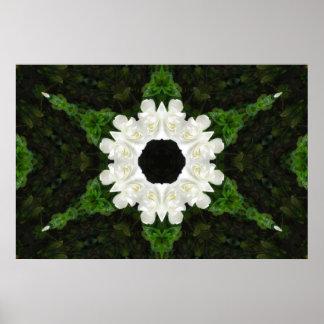 Beautiful Gardenia 5 Kaleidoscope 9 Poster