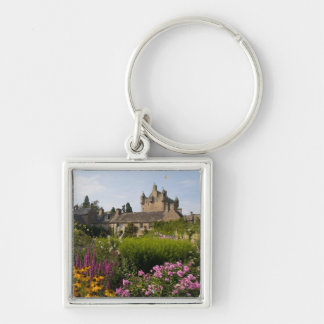 Beautiful gardens and famous castle in keychain