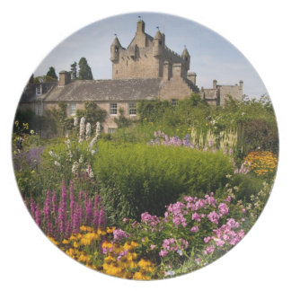 Beautiful gardens and famous castle in Scotland Dinner Plate