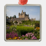 Beautiful gardens and famous castle in Scotland Metal Ornament