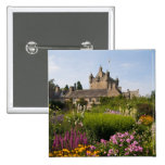 Beautiful gardens and famous castle in Scotland Pinback Button