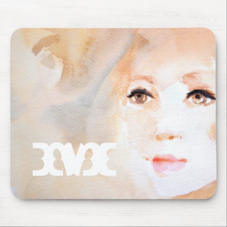 Beautiful Gaze Watercolor Painting Mouse Pad