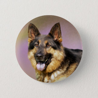 Beautiful German Shepherd dog portrait Button