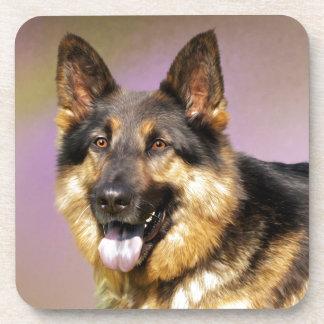 Beautiful German Shepherd dog portrait Drink Coaster