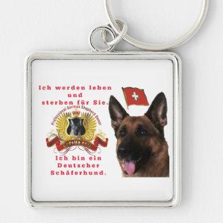 Beautiful German shepherd dog Premium (square) Keychain