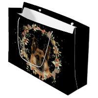 Beautiful German Shepherd Holiday Gift Bag