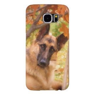 Beautiful German Shepherd in Autumn Samsung Galaxy S6 Case