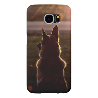 Beautiful German Shepherd in the Sunset Samsung Galaxy S6 Case