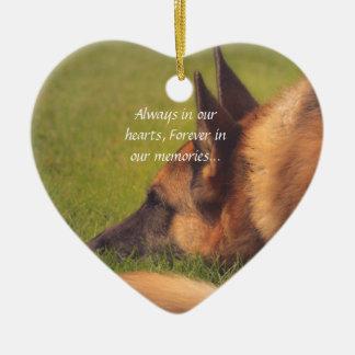 Beautiful German Shepherd Lost Pet Ornament