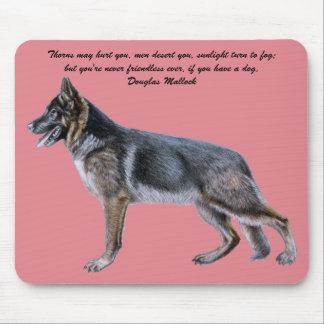 Beautiful German Shepherd Mousepad with Poem