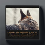 """Beautiful German Shepherd Pet Memorial Plaque<br><div class=""""desc"""">A memorial to our pets who are gone from this earth but alive in our hearts. A gorgeous German Shepherd Dog stands in the snow staring off into the distance. Up against a Winter background, it makes a stunning tribute. A wonderful remembrance gift for that special person who lost that...</div>"""