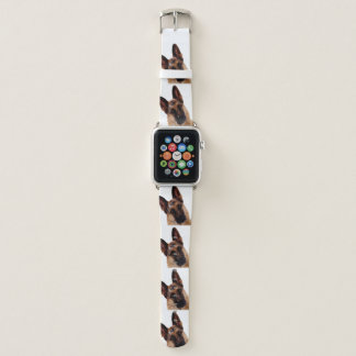 Beautiful German Shepherd Portrait Apple Watch Band
