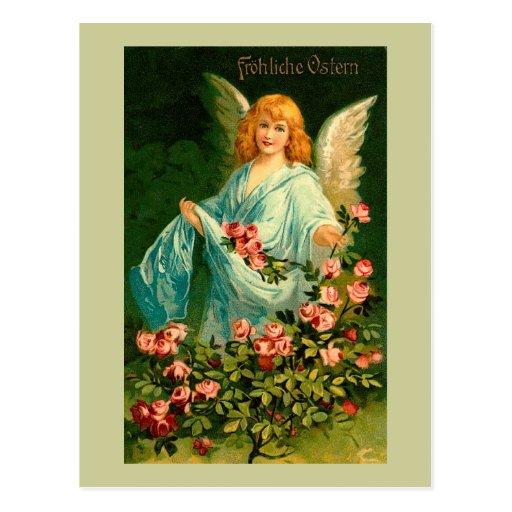 Beautiful German Vintage Easter Angel Postcards