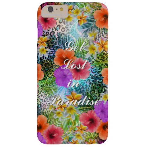"""Beautiful """"Get lost in Paradise"""" custom quote Barely There iPhone 6 Plus Case"""