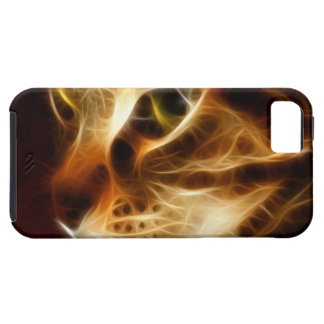 Beautiful Ghostly Fire Cat iPhone 5 Cases