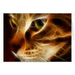 Beautiful Ghostly Fire Cat Greeting Card