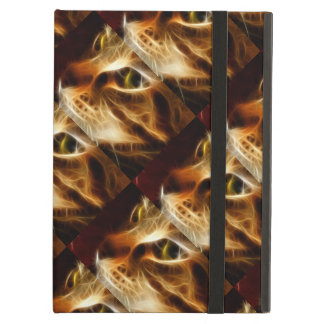 Beautiful Ghostly Fire Cat iPad Air Cover
