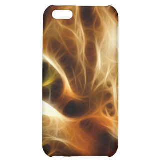 Beautiful Ghostly Fire Cat iPhone 5C Cover