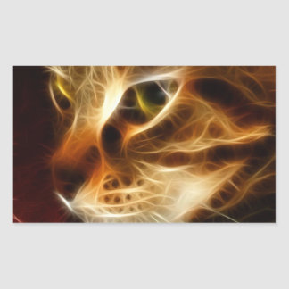 Beautiful Ghostly Fire Cat Stickers