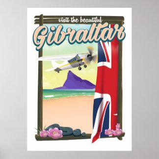 Beautiful Gibraltar Travel poster