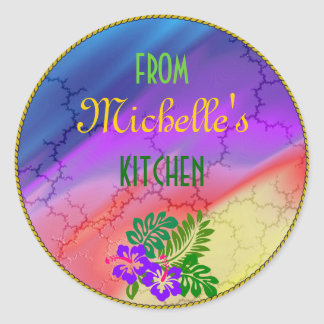 Beautiful Gift Sticker Template, Rainbow of Colors
