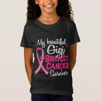 Beautiful Gigi Great Grandma Breast Cancer T-Shirt