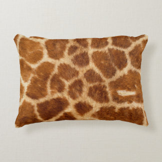 Beautiful Giraffe Print Decorative Pillow