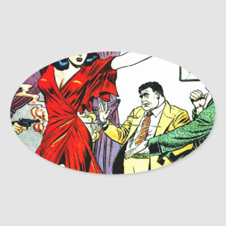 Beautiful Girl and Wise Guys Comic Stickers