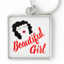 beautiful girl keychain