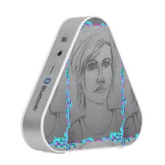 beautiful girl portrait bluetooth speaker