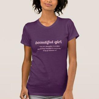 Beautiful Girl Song of Solomon 4:7 T-Shirt