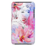 Beautiful girl with a bouquet of flowers iPod touch Case-Mate case