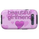Beautiful Girlfriend Pink & Purple Love Hearts Samsung Galaxy SIII Case