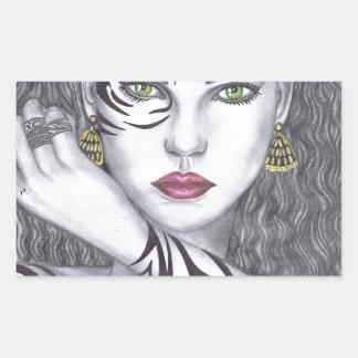 Beautiful girls Artwork Rectangular Sticker